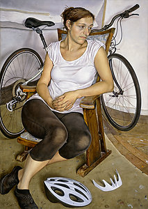 Seated Figure with Cycle Helmet